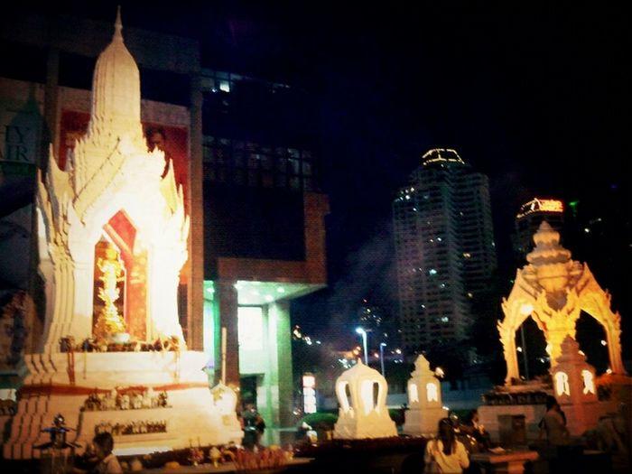 Shrines at night #bkk