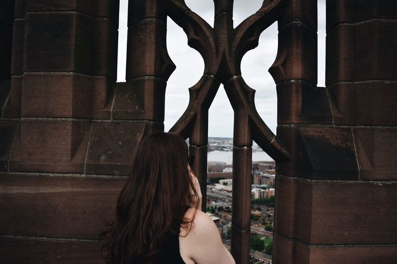 Liverpool Cathedral Roof Rooftop View View From Above City Cityscapes Skyline Tourist Travel Woman Showcase July Eyeemphoto Battle Of The Cities People And Places