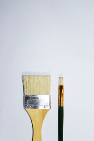 Paint brush isolated on a white background Acrylic Artist Creativity Hair Paint Brush Bristles Close-up Closeup Color Craft Design Drawing Education Equipment Handle Indoors  Isolated White Background No People Object Painter Painting Still Life Studio Shot Watercolor White Background