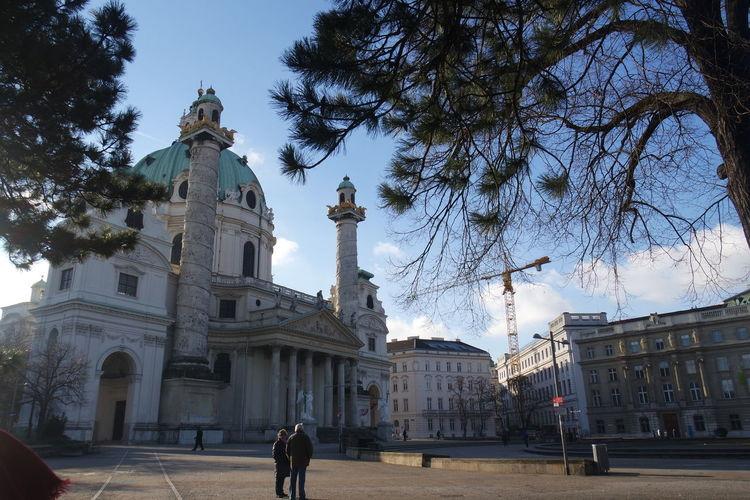 Architecture Austria ❤ Building Exterior Karlskirche Outdoors Spirituality St. Charles's Church Travel Destinations Tree Vienna