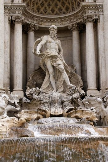 Trevi Fountain From Rome