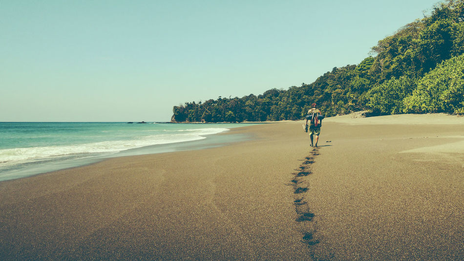 Beach Sea Sand Nature Summer Outdoors Sky Beauty In Nature Vacations Landscape Blue Horizon Over Water Water Tourism Costa Rica Corcovado National Park One Person Been There.