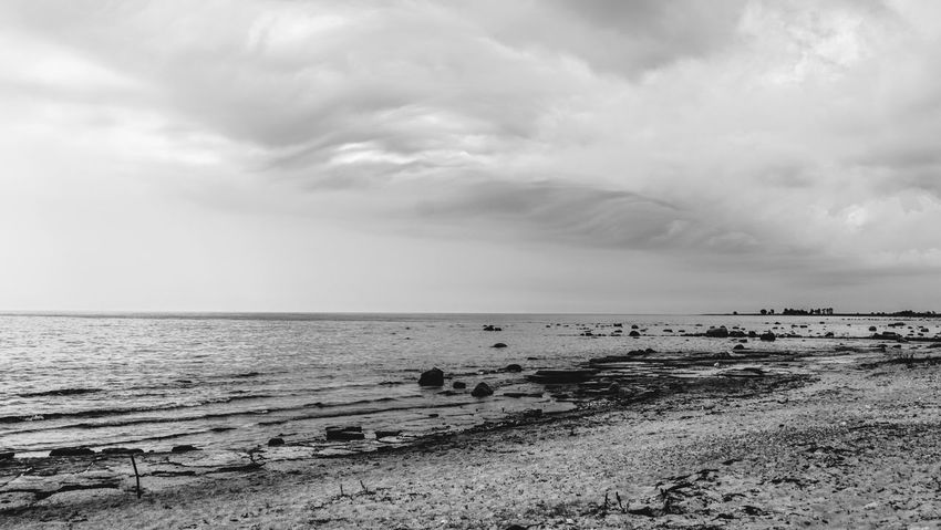 Converted this to BW to accentuate the powerful clouds. The only day with rain on my vacation :) Power In Nature Storm Sand Nature Beauty In Nature Scenics - Nature Horizon Over Water Cloud - Sky Sky Horizon Beach Water Sea Dramatic Sky Dramatic Drama No People Overcast Bw_collection B&w Photography