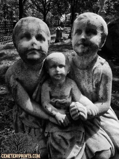 Lily, Mary and Willy Creepy Cemetery Prints Inc The Fragile