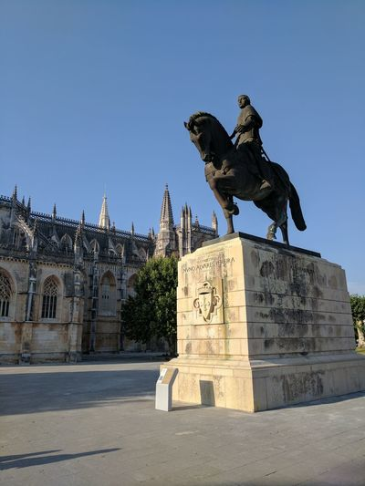 Batalha, Portugal. Sculpture Statue History Travel Destinations Built Structure Architecture Sky Day No People Portugal