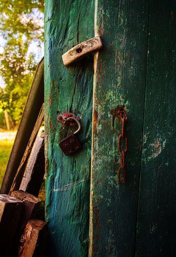 Close-Up Of Rusty Door