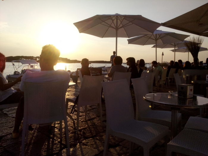 Ionian sunset Cafe Chillout Sunset Med Vibes Social Gathering Party - Social Event Friendship Beach Women Togetherness Sea Sunset Relaxation Happy Hour