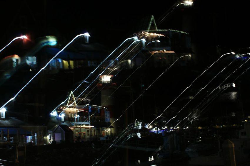 Night Illuminated Long Exposure Nightlife Light Trail Building Exterior Oceanside, Ca Motion Marina Bay