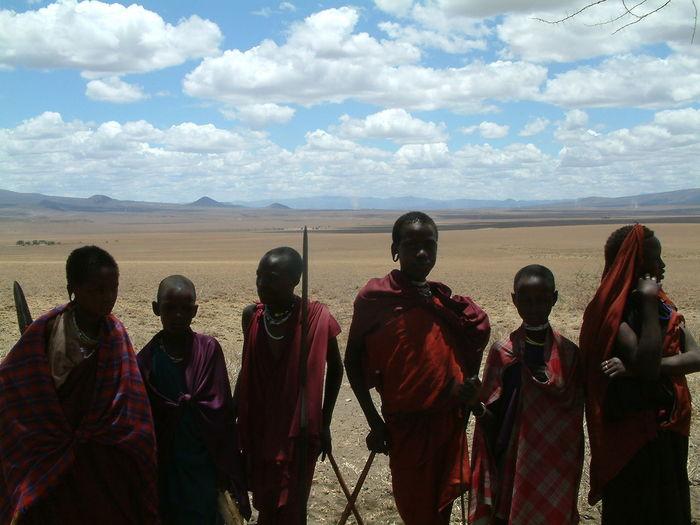 Adult Africa AFRICAN CULTURE Day Landscape Medium Group Of People Men People Rift Valley Scenics Sky Tanzania Teenager Masaai Warrior Masaai Miles Away