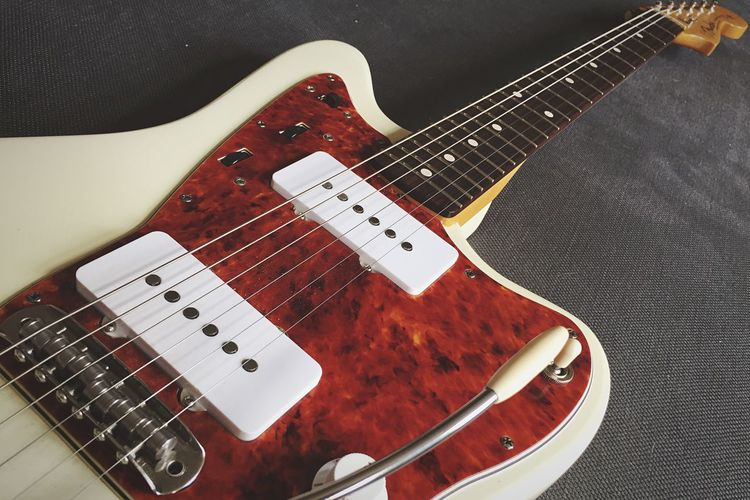 my lovely jazzmaster. can't get enough of it. Jazzmaster Partsmaster Guitar Spitfiretort