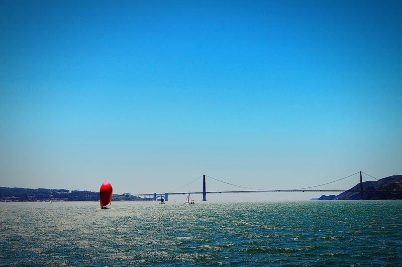 Sea And Sky Sea View Seaside_collection Sailboat Red Coast Sailing Bridge Sea Breeze The Boat Light And Shadow Sunset #sun #clouds #skylovers #sky #nature Beautifulinnature Naturalbeauty Photography Landscape [a: Eyem Best Shots EyeEm Gallery Travel Photography Nature Photography Eyem Gallery