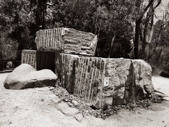 Groundwater Do Not Drink Bore Water Grooved Boulders Travel Destinations Kings Park Rio Tinto Naturescape Sepia Tone Sepia Black And White October 2016 No People Nature Sunlight Day Solid Built Structure Rock Architecture Stack Art And Craft Outdoors Tree Sand Rock Nature History The Past Stone Material