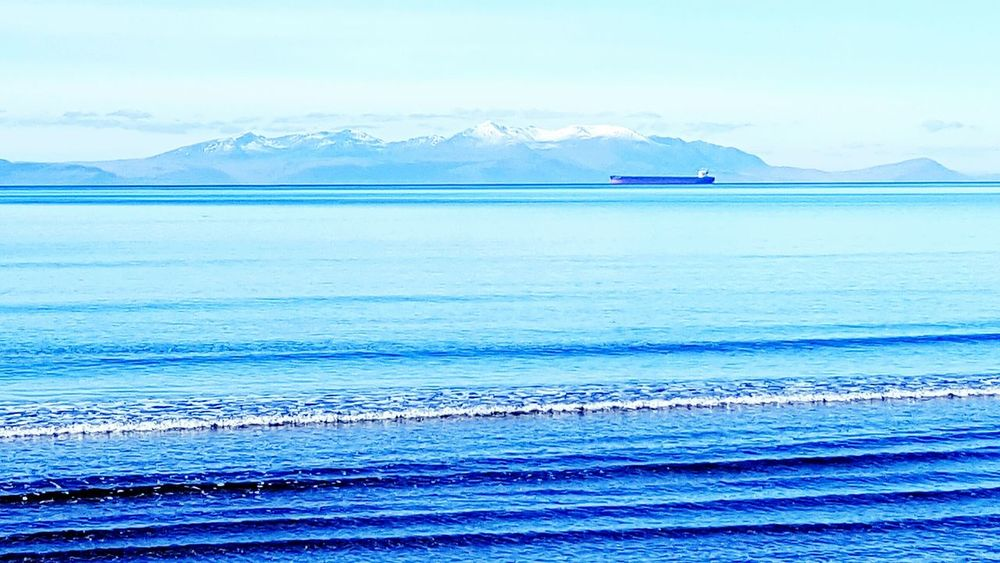 Taking Photos Taking Pictures Hello World Enjoying Life Check This Out Relaxing Islands Island Cargo Ship Ships⚓️⛵️🚢 Sea And Sky Beautiful Day Beautful View Takingphotos Scotland Snow Topped Mountains Isle Of Arran  Ayrshire Taking Photos Sea Beautiful Beautiful View Sea View... Love It!  Sea View Sea Views