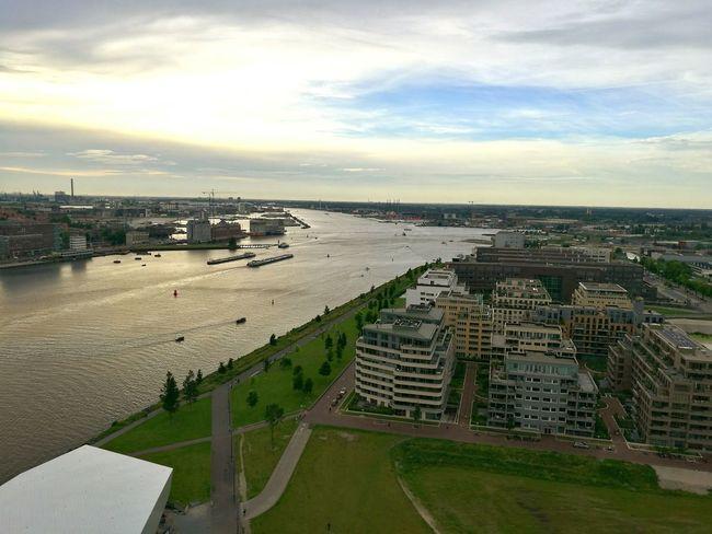 Amsterdam Skyline Adamtoren Amsterdam Skyline View From Above High Lookout Madam ADAMtower