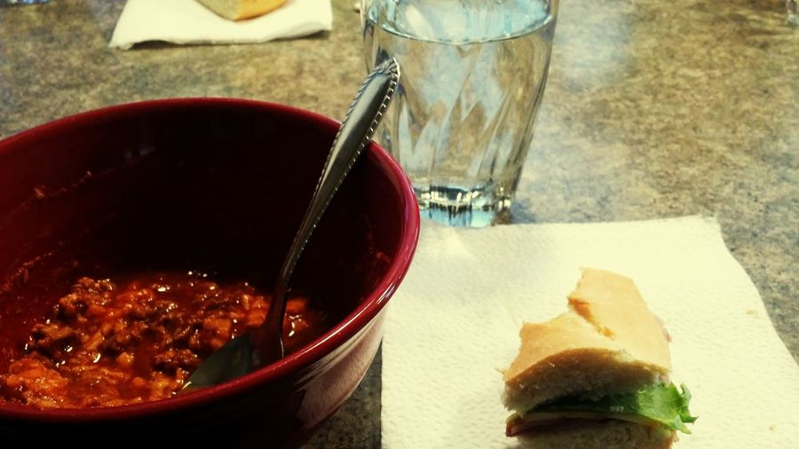 Lunch Dinner Love It I Love It ❤ Food Chilicookoff Turkey Sandwiches :) With My Ham Sandwich