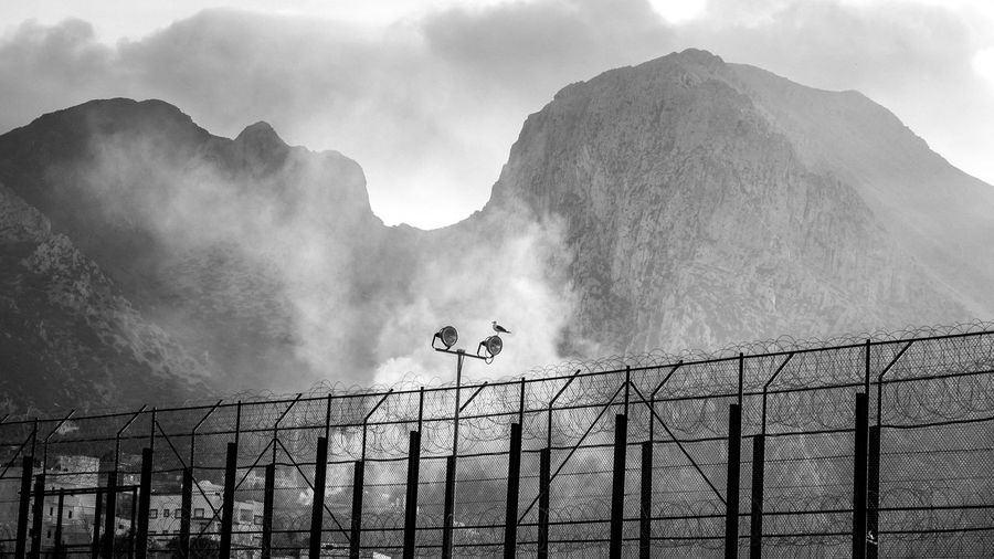 EyeEm Best Shots EyeEmNewHere EyeEm Nature Lover EyeEm Selects EyeEm Best Edits EyeEm Gallery FUJIFILM X-T2 Nature No People Day Blackandwhite Silhouette Mountain Cloud - Sky Fog Tranquil Scene Low Angle View Beauty In Nature Border Sky Barrier My Best Photo