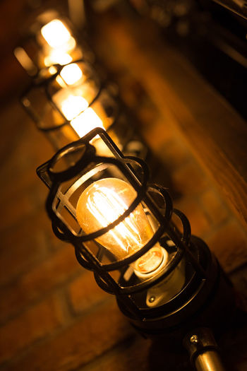 Close-up High Angle View Illuminated Indoors  Lighting Equipment Night No People Technology