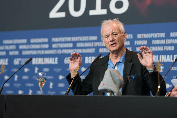 Berlin, Germany - February 24, 2018: Bill Murray, accepting the award for Wes Anderson (winner of the Silver Bear for Best Director for 'Isle of Dogs'), at the Berlinale Award Winners press conference AWARD Artist Berlin Best Director Event Film Festival Press The Media Winning Arts Culture And Entertainment Berlinale Berlinale 2018 Berlinale2018 Berlinale68 Bill Murray Entertainment Entertainment Event Film Industry Mass Media Press Conference Silver Bear Winner