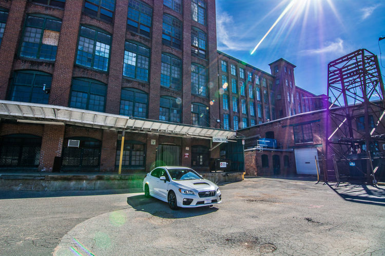 2017 Subaru WRX Architecture Building Exterior Built Structure City Cityscape Cloud - Sky Day Downtown District Modern No People Outdoors Reflection Sky Skyscraper Tree Urban Skyline White Crystal Pearl