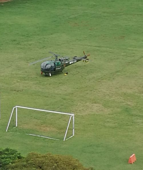 High Angle View Footballfield Helicopter 🚁