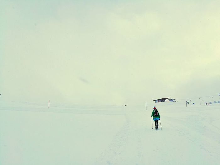 Snow Winter Cold Temperature Outdoors Adventure Beauty In Nature Cloud - Sky Landscape Happiness