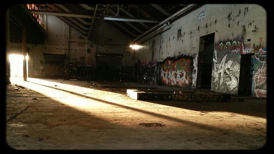 twilight at an Abandoned Factory in Melbourne Graffiti