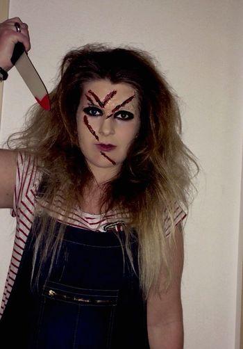 Chucky makeup - Halloween 🎃🕸💀 Selfie ✌ That's Me Halloween Halloweenmakeup Chucky