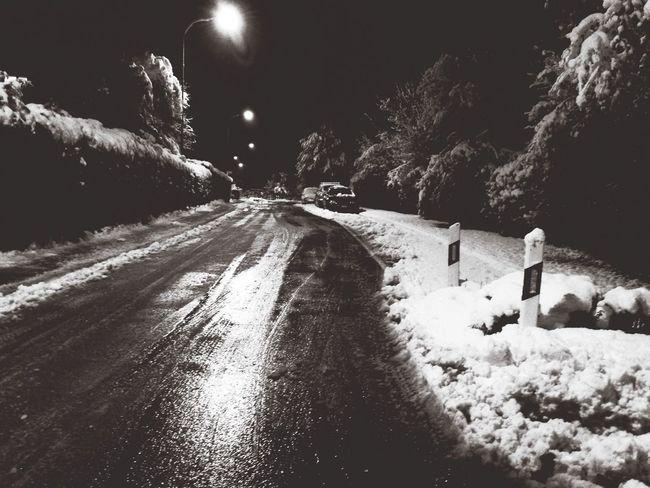 Schnee Hello World Gehweg Wirwollensommer