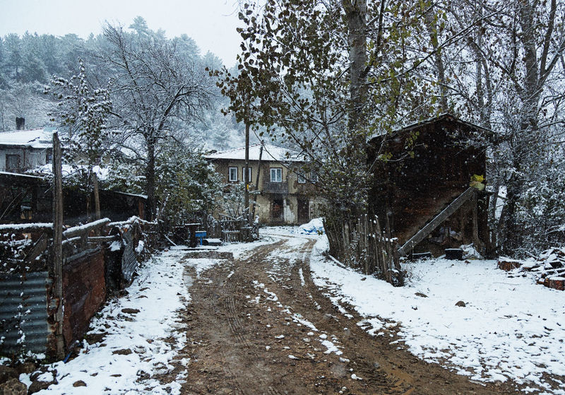 Snowy Road Architecture Barn Building Exterior Built Structure Cold Temperature Extreme Weather Home Landscape Muddy Nature Outdoors Snow Snow ❄ Snowing Snowy Structure Sünnetköy Tree Trees Village Village Life Winding Road Winter Landscape Wood - Material