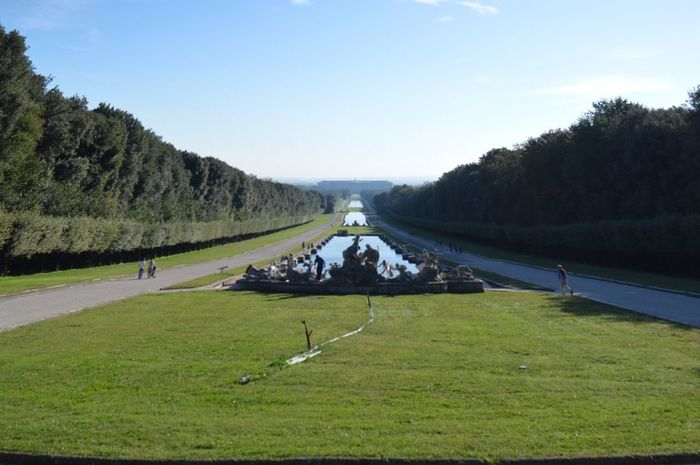 Profondità Panorama Giardini Verde Erba Prospettiva Reggiadicaserta