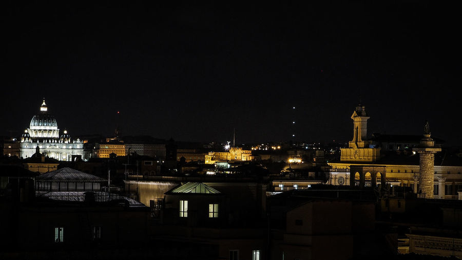 St Peter Basilica With Cityscape At Night