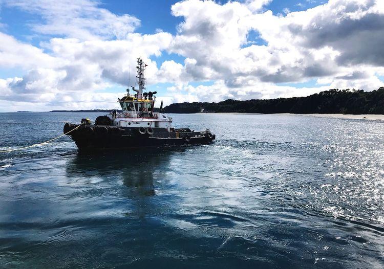 Water Cloud - Sky Sky Transportation Nautical Vessel Mode Of Transportation Sea Ship