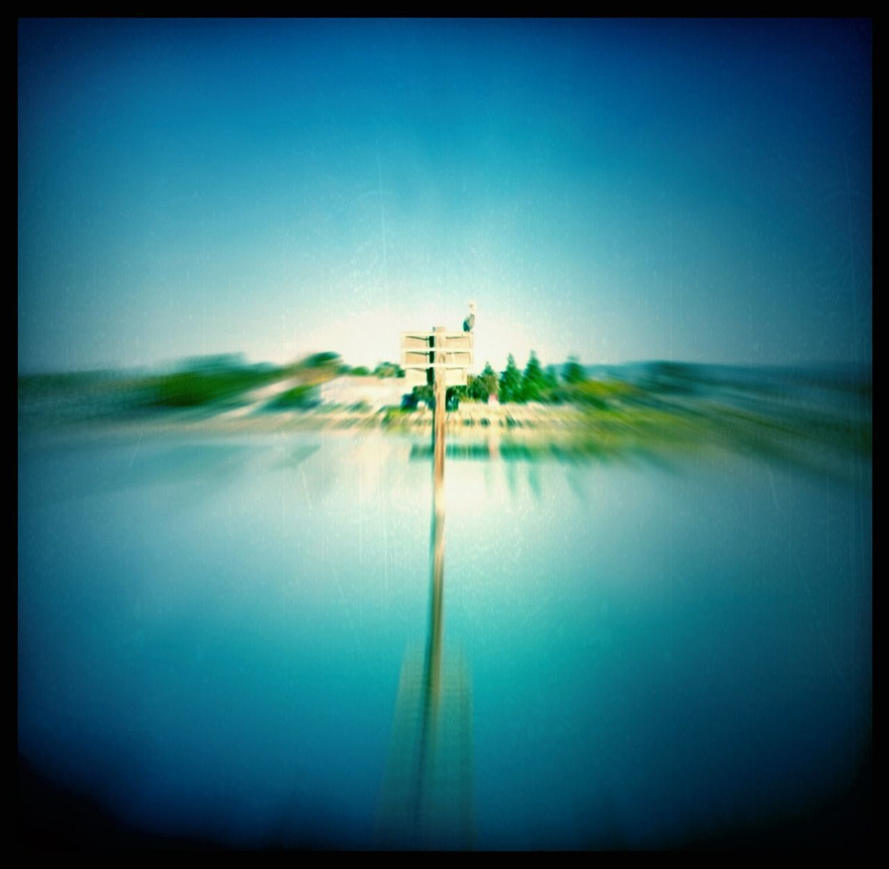 Lake View In Blurred Motion