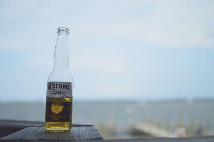 Drunk on your love. Nikon Vibes EyeEm Best Shots Enjoying Life Beachphotography Beach Nature_collection Florida Melbournebeach Vacation Summer16 Corona Beer Bokeh Depth Of Field 50mm River