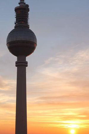 Myberlin Nofilter Berlin Berliner Orange Sky Skyline Breathtaking Urban Sunset