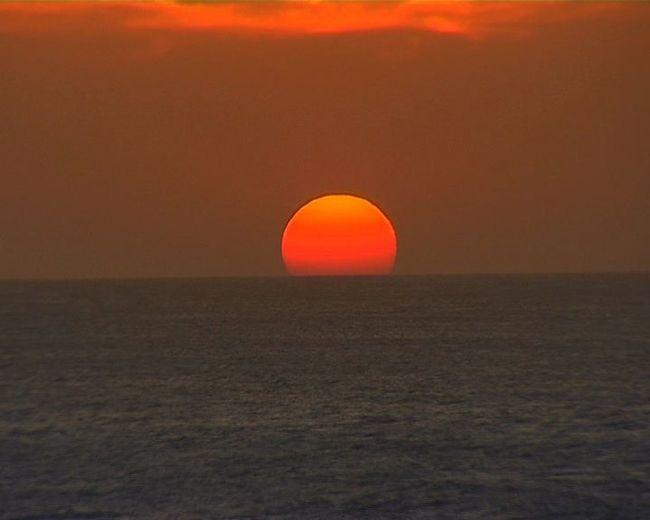 It is a SUNSET at Kanyakumari India. Sunset