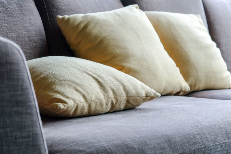 Pillows On Sofa At Home