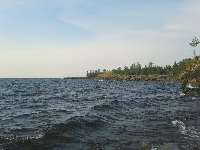 Water Karelia Lake Landscape Island Valaam Lakescape Nature Wave