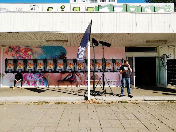 it's happening. Berlin photo week X EyeEm ceremony. Berlin Photo Week BPW18 Standing City Artist Aerosol Can Street Art Men Graffiti Spray Paint Art And Craft