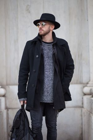 Three Quarter Length Casual Clothing Hat Front View One Person Standing Mid Adult Men Looking At Camera Outdoors Portrait Young Adult Real People Day Lifestyles Architecture