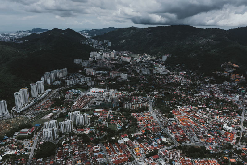 Whole view of one side of penang malaysia