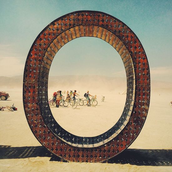 Bikers Burning Man Desert Life The Traveler - 2015 EyeEm Awards