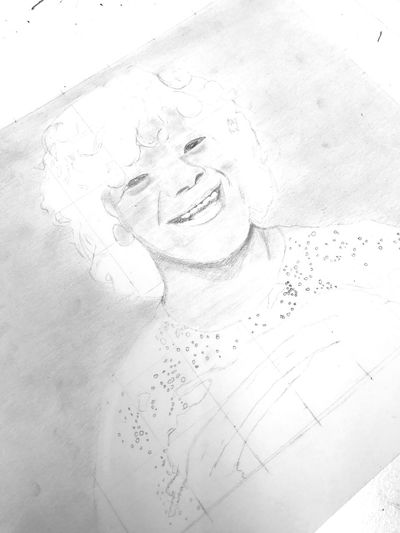 my amateur attempt at drawing Gaten EyeEmNewHere Stranger Things Art Drawing EyeEm Selects One Person Real People White Background Close-up