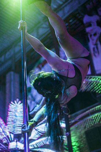 Dance Nightphotography Phuket Thailand Woman Lapdance Night Nightlife Striped Stripper Life