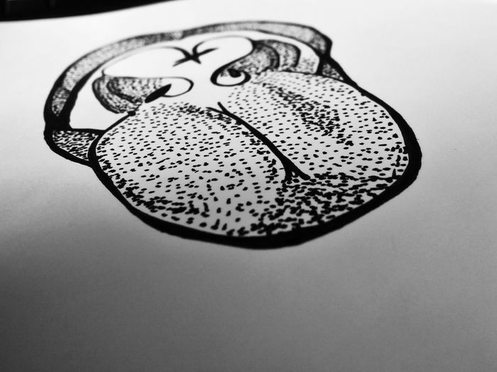 first try dotwork Black & White Creativity Mouth & Tounge Tounge Out