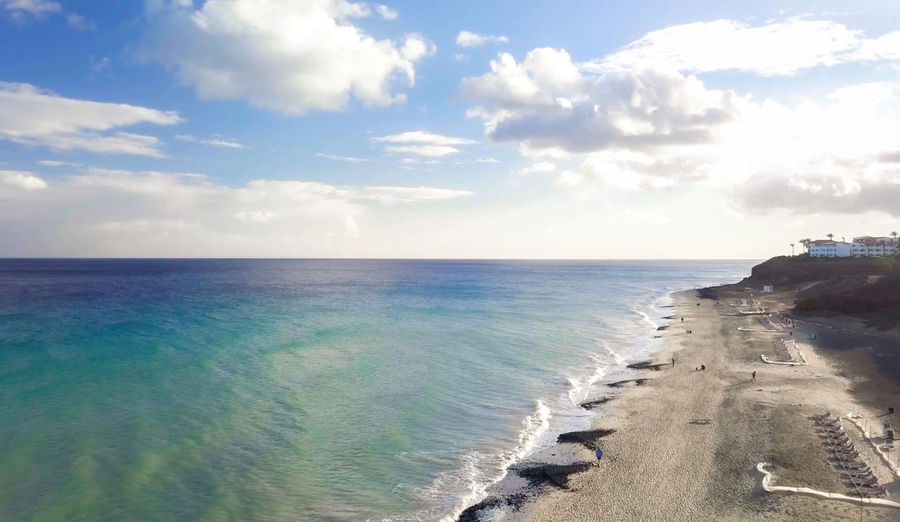 Fuerteventura Canary Islands Island Island Life Landscape Drone  Drones Dronephotography Water Ocean Cloud Sea Sky Horizon Beach Cloud - Sky Beauty In Nature Scenics - Nature Horizon Over Water Nature Day No People Non-urban Scene Wave Outdoors