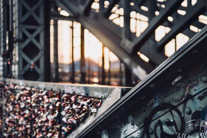 Close-up of metal railing