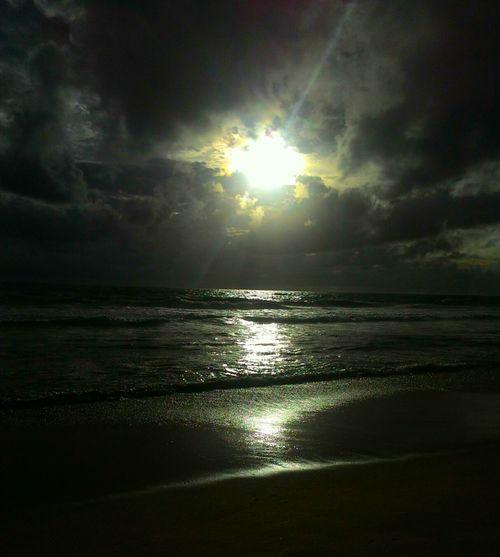 Glitch Asuszenfone Mobilephoto Sunset Beach Clouds Sky Golden Peace And Quiet