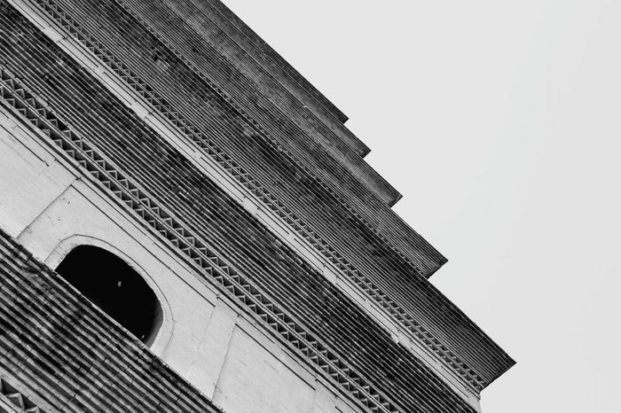 Xian Dayan Tower Architecture Texture Grain History Historical Building historical modernThe Architect - 2017 EyeEm Awards Blackandwhite Architectural Detail China Chinese Architecture Aisa Black And White Friday