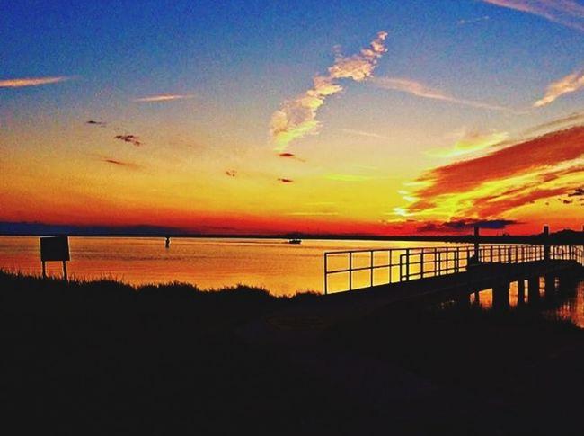 Sunset Sea Outdoors Bridge - Man Made Structure Tranquil Scene Scenics Travel Destinations Kiawah Island Bohicket Marina Lost In The Landscape